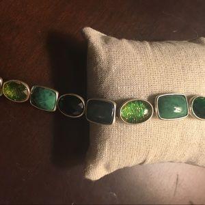 Jewelry - Multi stone green hue bracelet
